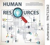 human resources | Shutterstock .eps vector #596712362
