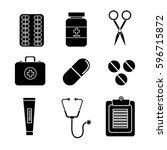 color healthcare  medications...   Shutterstock .eps vector #596715872