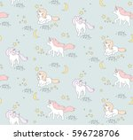 seamless pattern with cute...   Shutterstock .eps vector #596728706