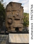 Small photo of December 17, 2014: Tlaloc Monolith near the entrance of National Museum of Anthropology and History, Mexico City