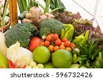 various colorful vegetables | Shutterstock . vector #596732426
