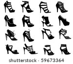 fashion shoes | Shutterstock .eps vector #59673364