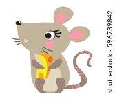 a vector illustration of cute... | Shutterstock .eps vector #596739842