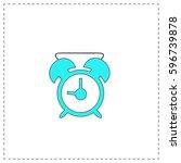 alarm clock outline vector icon ...