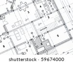 top view of architectural... | Shutterstock . vector #59674000