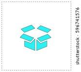 open box outline vector icon...