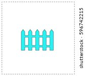 fence outline vector icon with...