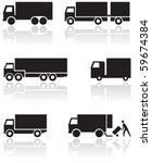 vector set of different truck... | Shutterstock .eps vector #59674384