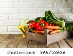 food vegetable colorful... | Shutterstock . vector #596753636