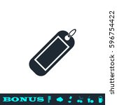 tag icon flat. black pictogram... | Shutterstock .eps vector #596754422