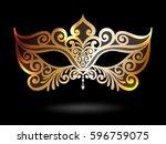 illustration with venetian... | Shutterstock .eps vector #596759075