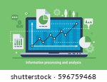 information processing and... | Shutterstock .eps vector #596759468