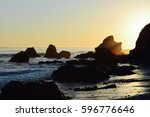 sunshine beach | Shutterstock . vector #596776646