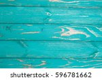 Turquoise Painted Boards Aged...