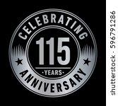 115 years anniversary logo... | Shutterstock .eps vector #596791286