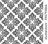 black and white vector... | Shutterstock .eps vector #596793866