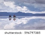 uyuni saline  salar de uyuni  ... | Shutterstock . vector #596797385