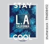 tee print vector design with... | Shutterstock .eps vector #596808452