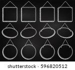 chalkboard style hanging frames ... | Shutterstock .eps vector #596820512