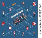 isometric infographics with... | Shutterstock .eps vector #596821568