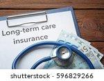 text long term care insurance...   Shutterstock . vector #596829266