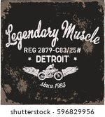 vintage motorbike race   hand...   Shutterstock .eps vector #596829956