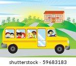 going to school vector | Shutterstock .eps vector #59683183
