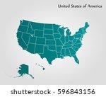 united states of america vector | Shutterstock .eps vector #596843156