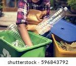 african descent kid separating... | Shutterstock . vector #596843792