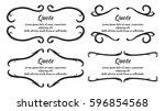 set of vintage frame and border | Shutterstock .eps vector #596854568