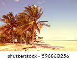 cuba   caribbean beach cayo... | Shutterstock . vector #596860256
