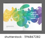 abstract background with liquid ... | Shutterstock .eps vector #596867282