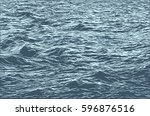 sea. hand drawn engraving.... | Shutterstock .eps vector #596876516