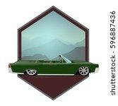 retro car cabriolete | Shutterstock .eps vector #596887436
