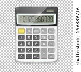 vector realistic calculator...   Shutterstock .eps vector #596889716
