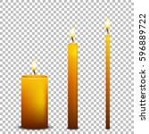 vector realistic candle icon... | Shutterstock .eps vector #596889722