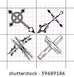 small religious cross design...   Shutterstock .eps vector #59689186