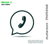telephone icon | Shutterstock .eps vector #596903468