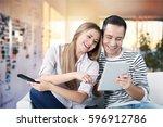 tablet. | Shutterstock . vector #596912786