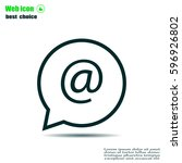at mail icon vector   Shutterstock .eps vector #596926802