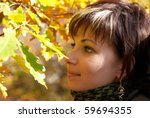 beautiful girl's portrait with... | Shutterstock . vector #59694355