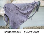 old dirty torn rag | Shutterstock . vector #596959025