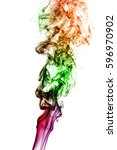 colored smoke isolated on white ... | Shutterstock . vector #596970902