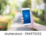 chiang mai  thailand   feb 12... | Shutterstock . vector #596975252
