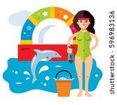 Vector Dolphinarium Concept....