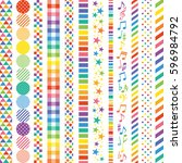 rainbow colored banners. | Shutterstock .eps vector #596984792