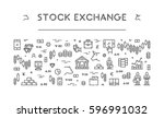 line web banner for stock... | Shutterstock . vector #596991032