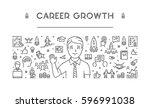 line web banner for career... | Shutterstock . vector #596991038