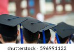 back of graduates during... | Shutterstock . vector #596991122