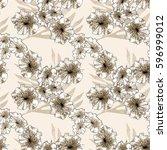 floral seamless pattern... | Shutterstock . vector #596999012